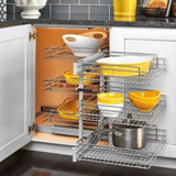 Blind corner cabinet shelf rack