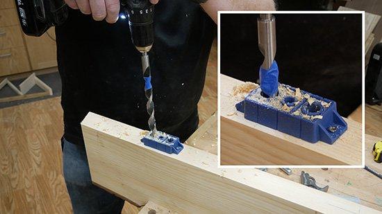 blind shelf drilling guide
