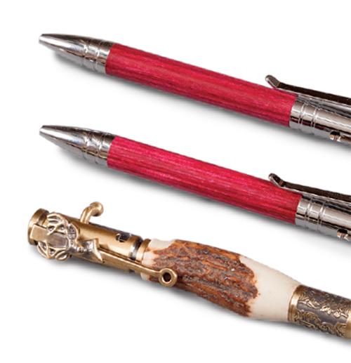 Bolt action and deer hunter turned pen blanks