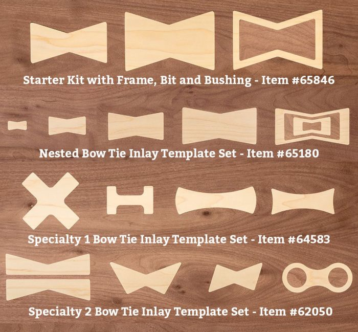 bow tie inlay template kits