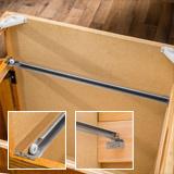 Three views of a bracket mounting slide