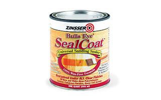Can of zinsser bull's eye seal coat
