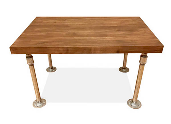Coffee table project with a butcher block tabletop