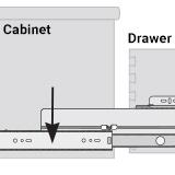 Diagram of cabinet member part of a drawer slide