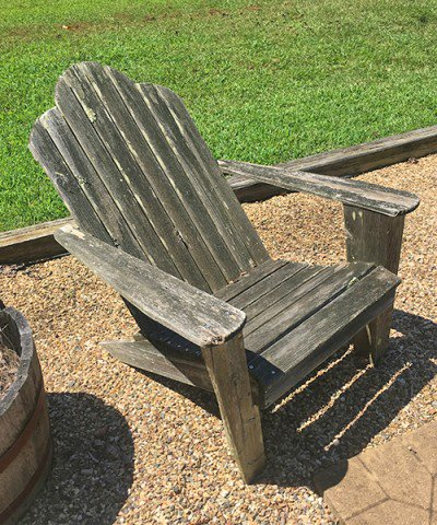 Unfinished adirondack chair made out of cedar