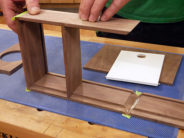using painters tape to connect miters