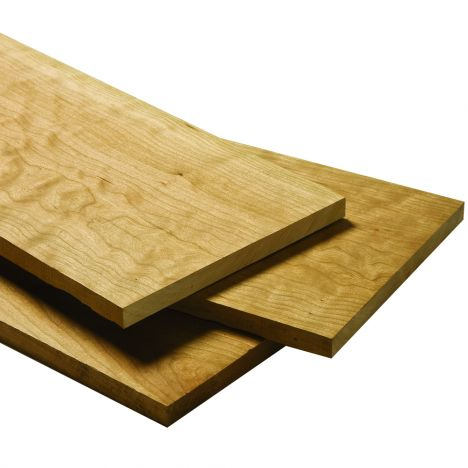 Stack of three quarter inch curly cherry lumber