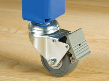 Example of a locking caster