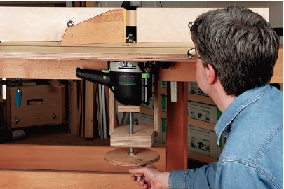 clamp on router table router