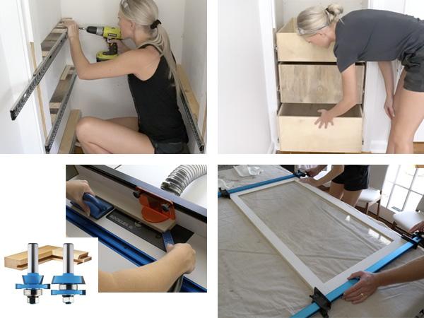 four closet building photos