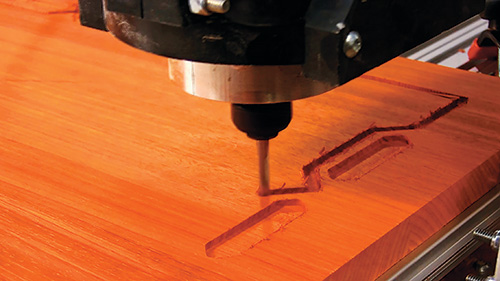 Using cnc router to carve patterns in a table