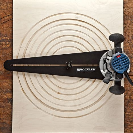 compact router circle cutting jig