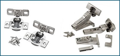 Compact and long arm European hinges