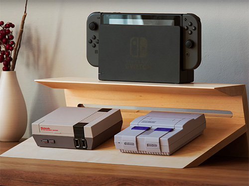 Display stand for nintendo video game consoles