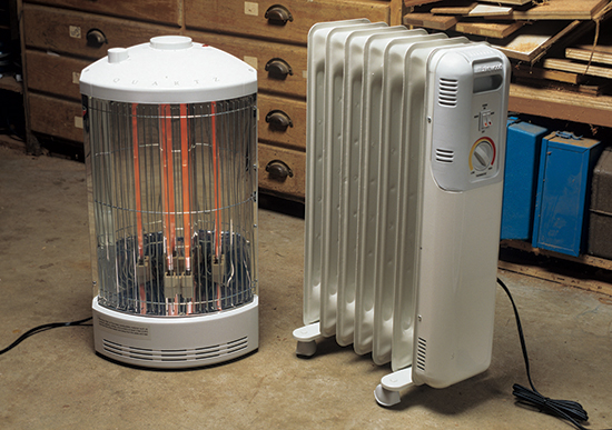 Examples of convection and radiant heating devices