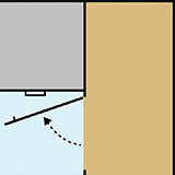 Diagram of the design of a blind corner cabinet
