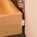 Plastic corner guards for shelf edge protection