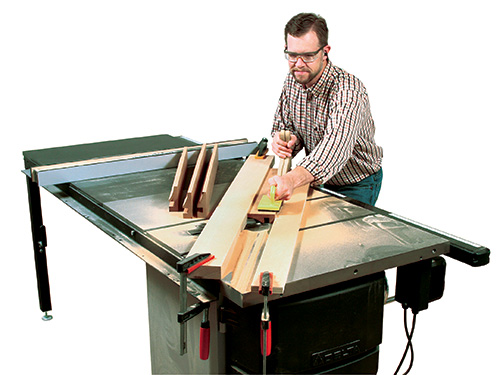 Diagonal cutting at a table saw to make cove cuts