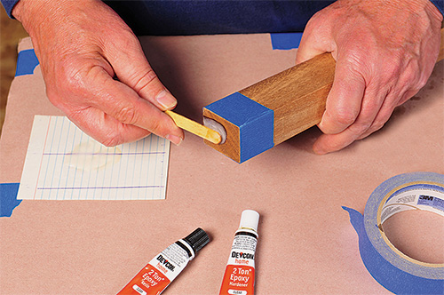 Sealing the end grain of a board with a coat of epoxy