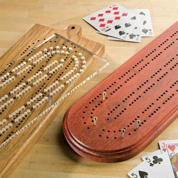 Standard size cribbage board drilling layout template