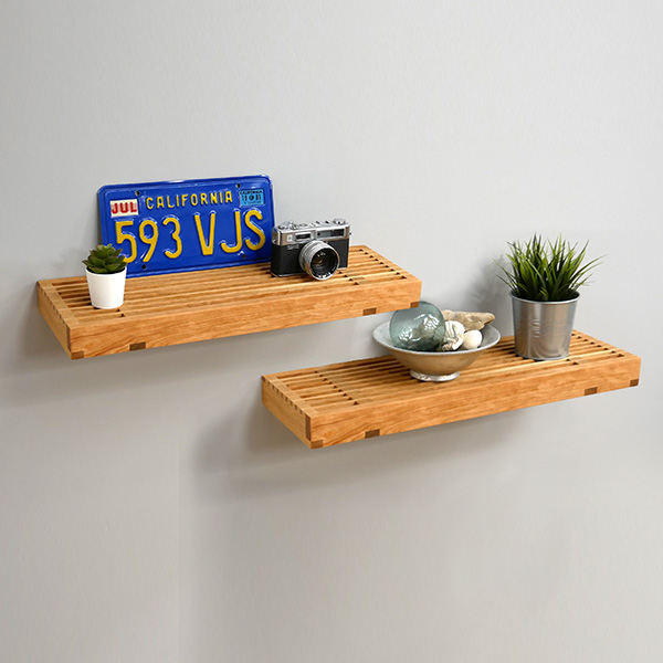 floating cross lap shelf