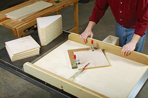 Cutting braces for clamp storage rack