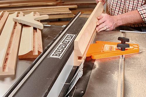 Using dado blade to cut bevel in picture frame edging