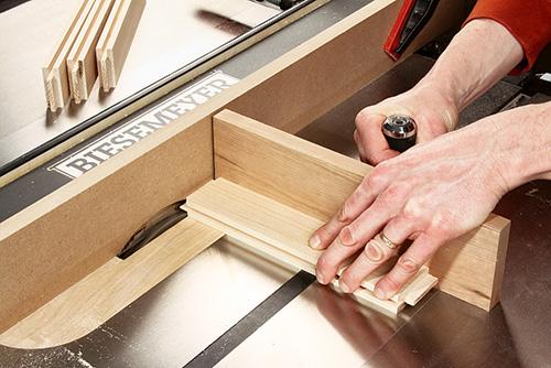 Sawing parts for cabinet door framework