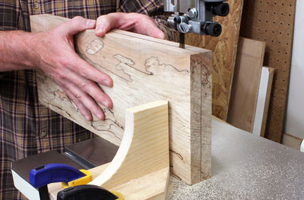 Cutting through the center of a board for book-matched panel