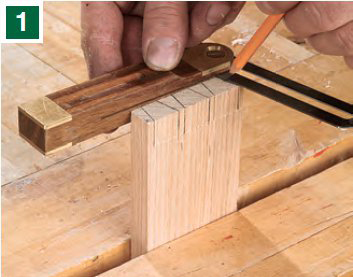 Marking positions for dovetail pins