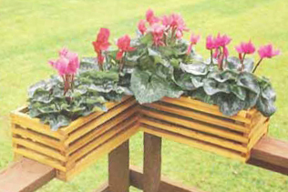 Planter box on the corner of a deck