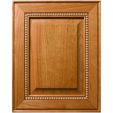 Decorative bead panel custom cabinet door