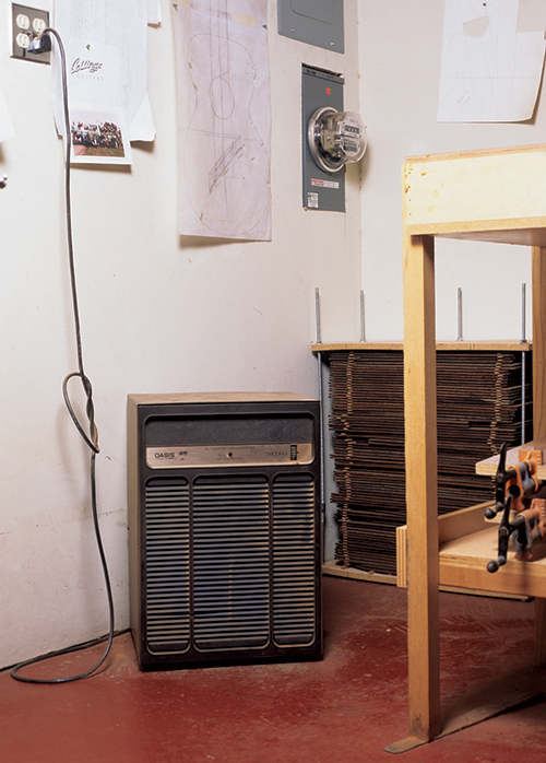 Running a small dehumidifier in a workshop