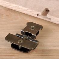 Demountable semi-concealed hinge