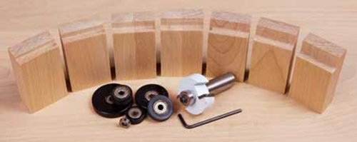 Variety of rabbet cut sizes made with a piloted router bit