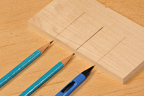 Markings made by different pencil thicknesses