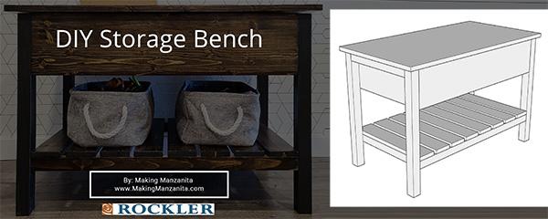 diy storage bench plan download