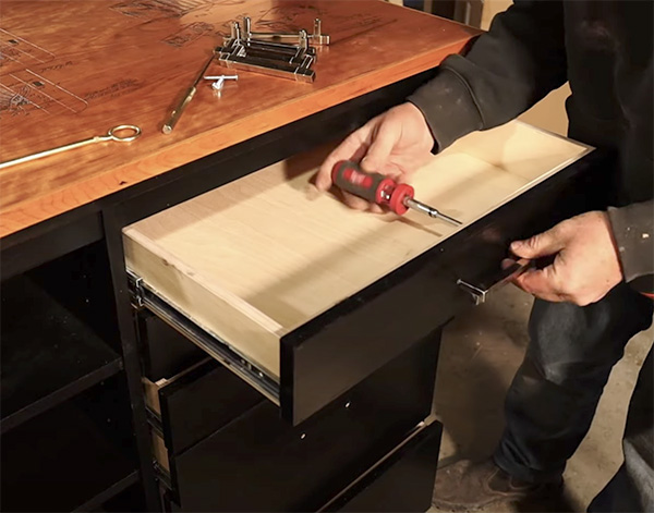 attaching a drawer pull
