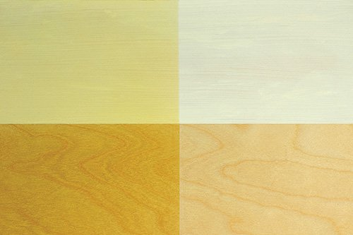 Four examples of coloration from flat finish