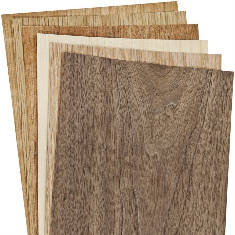 Three square foot domestic wood veneer squares