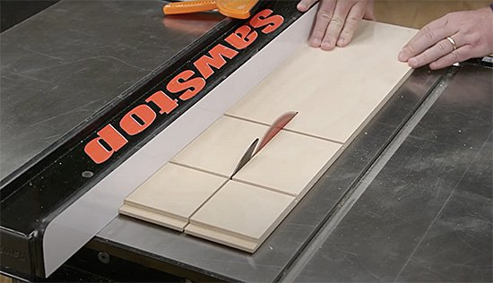cutting drawer sides on table saw