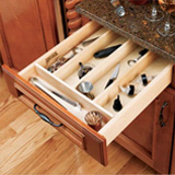 Tray insert for drawers to divide up storage spaces