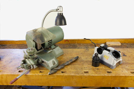 Leslie and Drill Doctor drill bit sharpening machines