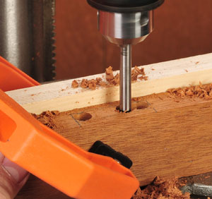 Cutting mortise with a drill bit