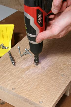 Using countersink bit to cut pilot holes