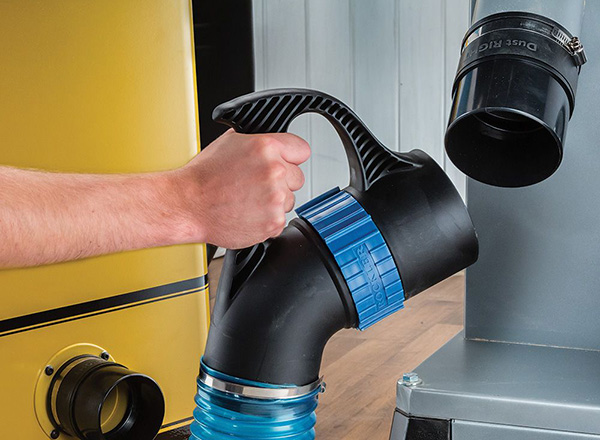 dust hose and band saw
