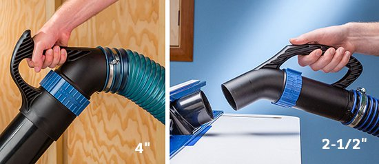 dust hose handles