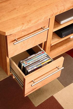 Drawer for storing DVDs