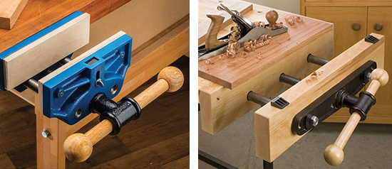 workbench face vise and end vise