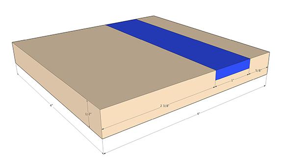 epoxy coaster dimensions
